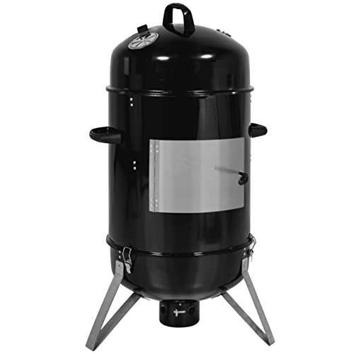 Best Choice Products 3-Piece 43-inch Outdoor BBQ Charcoal Vertical Design Smoker, Black