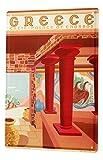 LEotiE SINCE 2004 Cartel Letrero de Chapa XXL Agencia De Viajes Vacaciones Palacio de Knossos Grecia