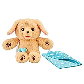 Little Live Pets - Cozy Dozys  Charlie The Puppy | Interactive Plush Toy Dog 25+ Sounds and Reactions Magical Eye Movement Blanket Pacifier and Batteries Included for Kids Ages 4+.