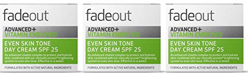 Fade Out Advanced+ Vitamin Enriched Even Skin Tone Day Cream with SPF 25 - Clinically Proven Face Cream to Even Skin Tone in 4 weeks, 3 x 50ml