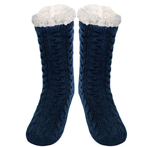 SIMIYA Slipper Socks Men Super Soft Warm Cozy Fleece-lined Winter Chunky...
