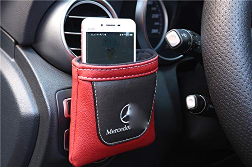1pcs Car Organizer Interior Storage Bag,Interor Air Vent Cell Phone Keys Coins Storage Multifunction Bag With Hook,For Benz Amg A B C E G-Class Cla Clc Clk Cls Gla Glk W176 W177 W203 W204 W205 W212