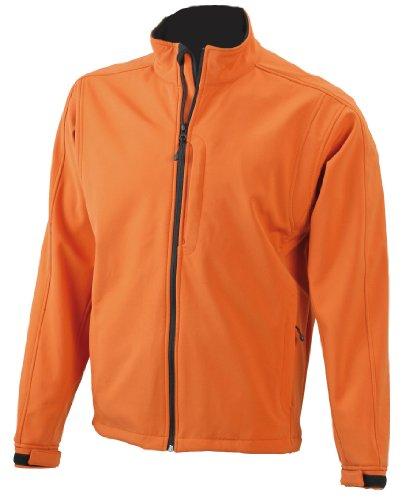James & Nicholson Herren Jacke Softshelljacke orange (pop-orange) X-Large