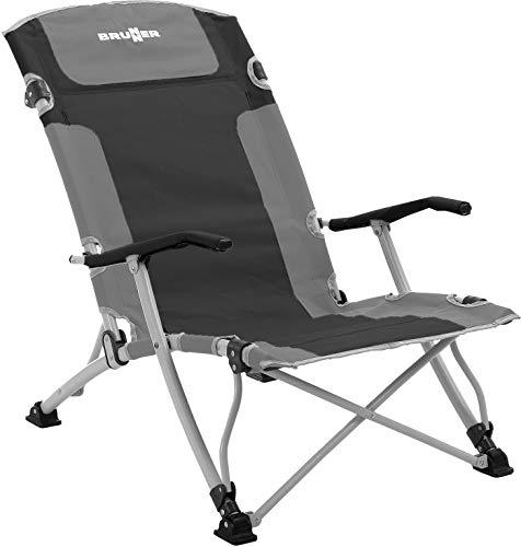 BRUNNER Bula XL Stuhl Grey/Black 2021 Campingstuhl