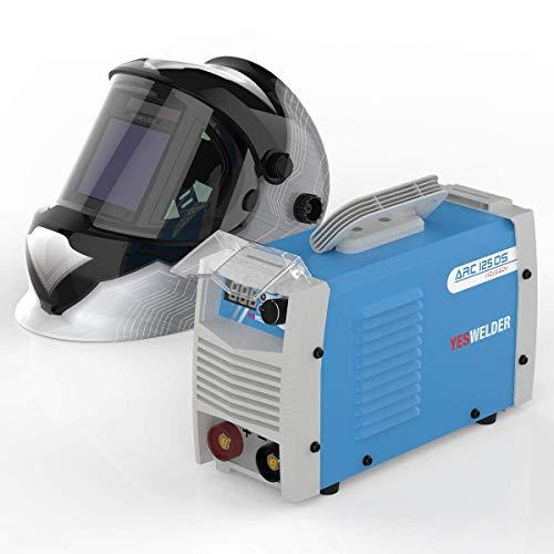 YESWELDER ARC Welder 125Amp Digital Inverter IGBT Stick MMA Welder & LYG-Q800D-A Large Viewng Welding Helmet