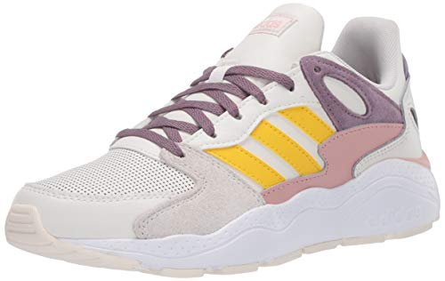 adidas Damen Crazychaos Turnschuh, Cloud Weiß/EQT Yellow/Legacy Purple, 39 EU