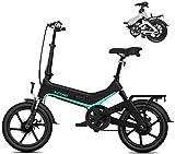 Bici electrica, Bicicletas for Adultos Plegable eléctricos Comfort Bicicletas Bicicletas híbrido reclinada/Road de 16 Pulgadas, batería de Litio 7.8Ah, Frenos de Disco, recibe en el Plazo de 3-7 día