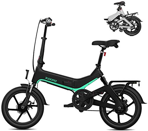 Bicicleta eléctrica Bicicleta eléctrica por la mon Bicicletas for adultos plegable eléctricos Comfort Bicicletas Bicicletas híbrido reclinada / Road de 16 pulgadas, batería de litio 7.8Ah, frenos de d