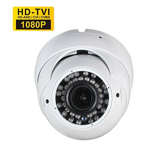 Sinis HD 1080P Hybrid CCTV-Kamera, 2MP TVI/CVI/AHD/CVBS 4 in 1, 2.8-12 mm Varifokusobjektiv,36 IR-LED,Tag/Nachtsicht,IR-Cut Drinnen/Draußen,TVI-Ausgang