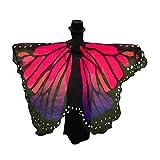 Andouy Damen Faschingkostüme Flügel Schal Tuch Erwachsene Poncho Umhang für