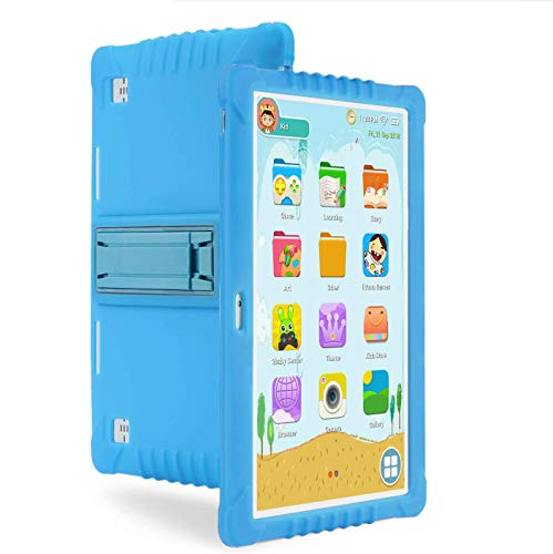RCTOYS Tableta para Niños, 10.1 Pulgadas Tablet Infantil (Andorid 9.0 y Niños-Modo Doble Sistema,Quad-Core,2GB RAM y 16GB ROM,3G,WiFi, Google Play, Juegos Educativos),Azul
