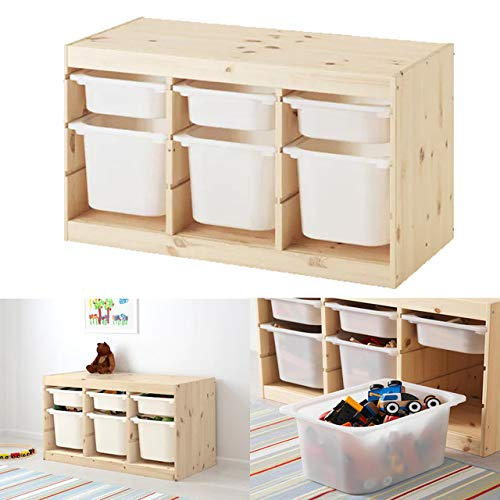 MAC TROFAST - Combinación de almacenamiento para niños (plástico, 94 x 44 x 52 cm), color blanco