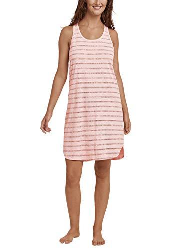 Schiesser Damen Sleepshirt 0/0 Arm, 90Cm Nachthemd, Gelb (Pfirsich 612), 34