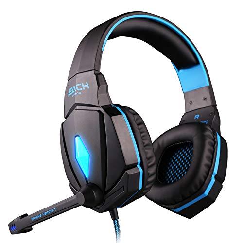 AIKES G4000 Computerspiel-Headset Headset Headset Professional Mit Mikrofon,Blue