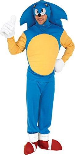 Rubie's - Costume per travestimento da Sonic il porcospino, Uomo, taglia: 52/54