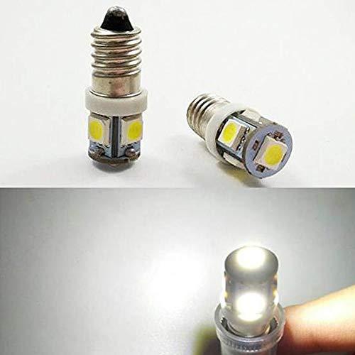 4 x E10 6 V 5050 5SMD 6000 K/4300 K MES tornillo bombilla LED cabeza lámpara interior linterna