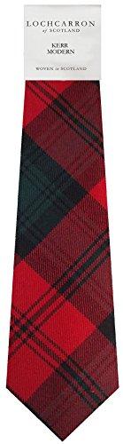 I Luv Ltd Gents Neck Tie Kerr Modern Tartan Lightweight Scottish Clan Tie