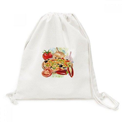 DIYthinker Pizza Italien Tomato Foods Knoblauch Leinwand Rucksack-Reisen Shopping Bags