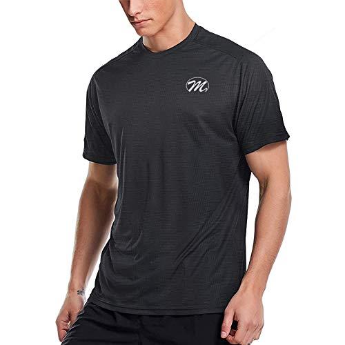 Aojo Sportshirt Funktionsshirt Herren, Laufshirt Kurzarm Mesh Sports T Shirt Atmungsaktiv Kurzarmshirt Trainingsshirt für Männer