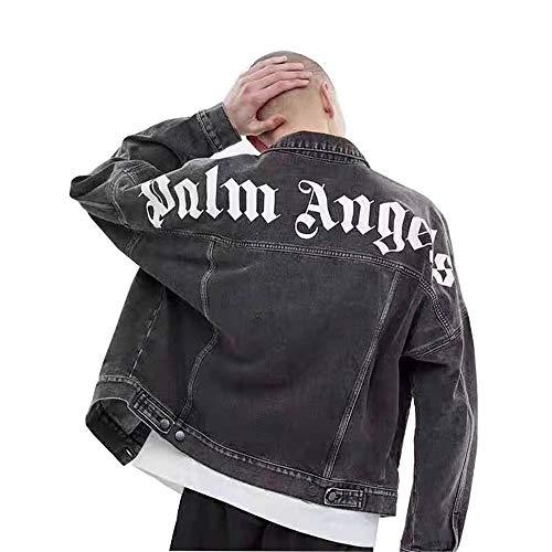 VVPSS Jacke Straße Hip Hop Printed Sweatshirt Männer Frauen Paar Lose Beiläufige Retro Jeansjacke