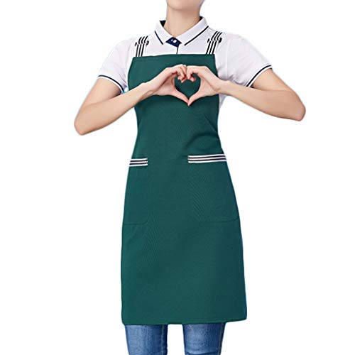 Apron Clean Household Kitchen Kitchen Antifouling Home Chef Clean (color: verde)