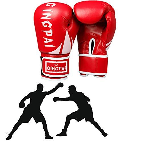 DC CLOUD Box Handschuh Boxhandschuhe Kinder Boxsackhandschuhe Junior Boxhandschuhe Boxsackhandschuhe Boxhandschuhe für Kickboxen Schlaghandschuhe red,6oz
