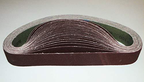 1 Stück Schleifband Gewebe 50 x 1020 mm Körnungen 100 P100 Bandschleifer Messerschleifer Schleifgerät Schleif Band Gewebeband Trocken Nass zb Schleifpapier Schleif-Mix Schleifbänder