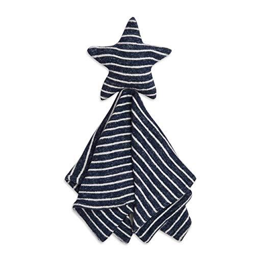 Aden + Anais Snuggle Knit Lovey, superweiche und Dehnbare Baby-Sicherheitsdecke, Sternmuster, Marineblau gestreift