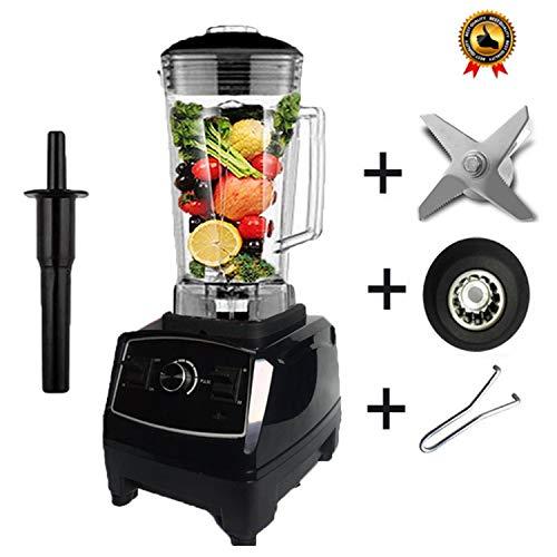 Heavy Duty Blender Professional Blender Mixer Food Processor Japan Blade Juicer Ice Smoothie Machine,Black full parts1,US Plug