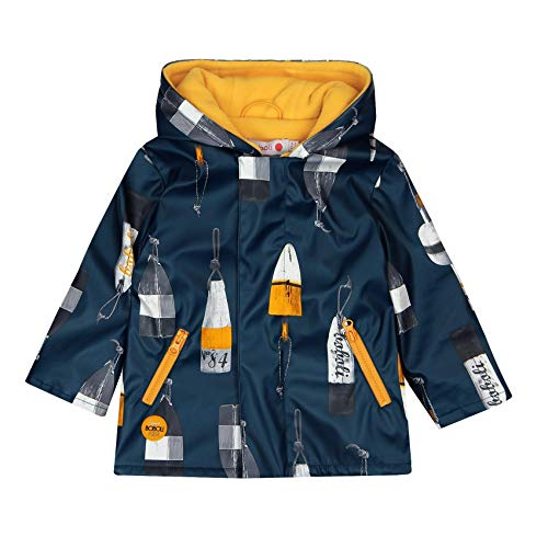 boboli Hooded Raincoat for Baby Boy Manteau imperméable, Multicolore (Boyas 9916), 74 cm Bébé garçon