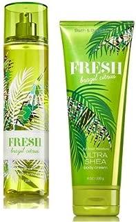 Bath and Body Works Fresh Brazil Citrus Ultra Shea Body Cream 8 Oz. and Body Mist 8 Oz.