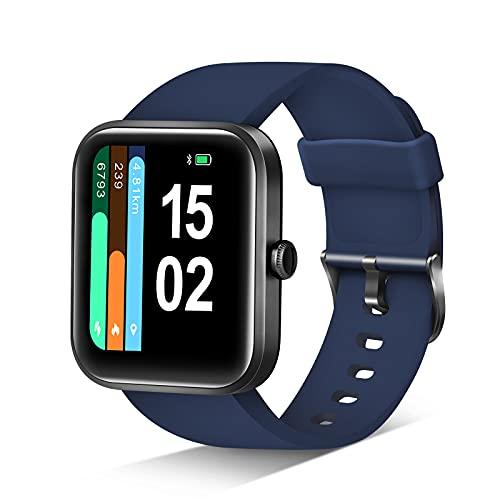 Smart Watch, Reloj Inteligente Monitor de Actividad, 1.69 Inch Touch Men/Women, Alexa, Monitor de frecuencia Cardiac Blood Oxygen Saturation, Waterproof,14 Modos Fitness (Android iOS)