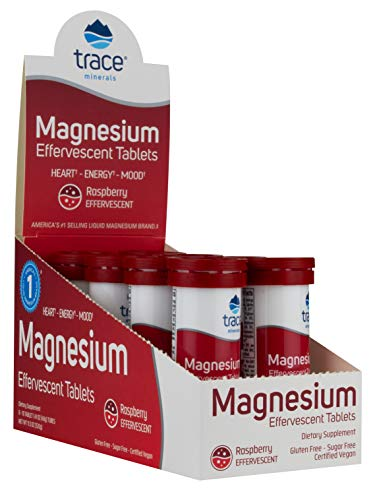 Trace Minerals Magnesium - Effervescent Tablets, Raspberry - 8 x 10 tabs