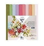 Clairefontaine 995000C – Un paquete de 10 rollos de crepé florista 25 x 100 cm, colores...