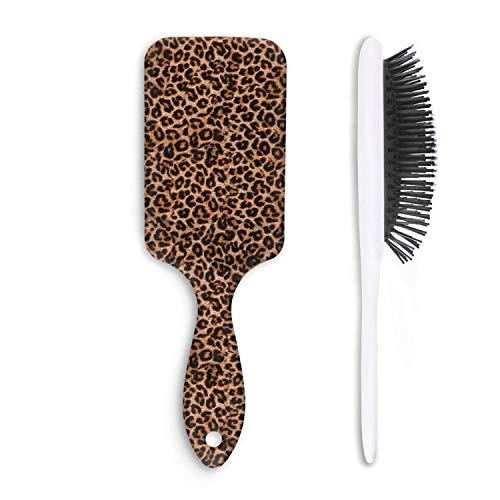 Cepillo de pelo leopardo estampado de guepardo marrn clsico  elimina nudos y enredos  libre de dolor  peine suave de moda para adultos y nios cualquier cabello