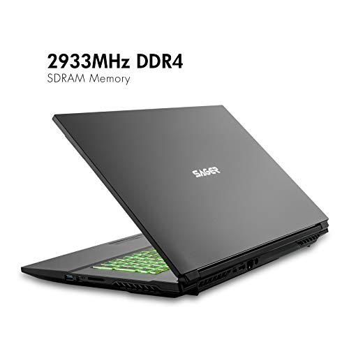 Sager NP7877DW 17.3-Inch Thin Bezel FHD 144Hz Gaming Laptop, Intel i7-10875H, RTX 2060 6GB, 32GB RAM, 1TB NVMe SSD + 1TB HDD, Windows 10