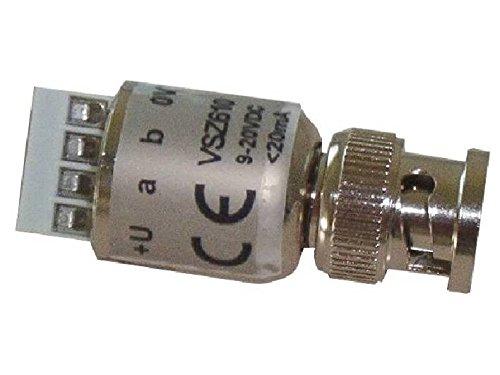 VSZ 610-Paket Visicom Visicom, 10 Stück VSZ-610 Miniatur-Zweidrahtsender im BNC-Stecker zum Aufstecken auf die Kamera, erhöhter Überspannungsschutz