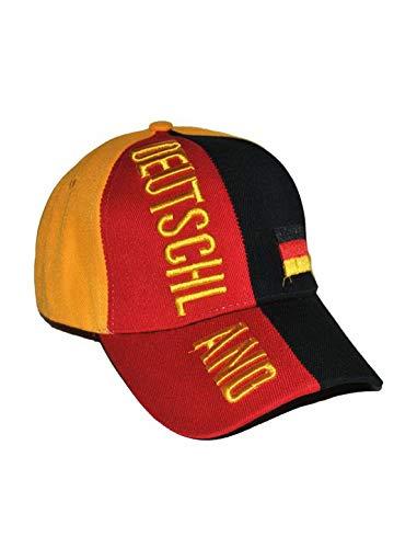 Luxuspiraten - Baseball Cap mit Deutschland Aufschrift und Deutscher Flagge, perfekt für die Europameisterschaft, Mehrfarbig