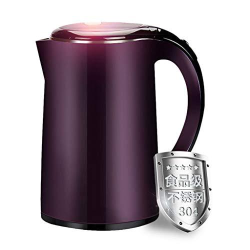 DONGY Elektrostahl Edelstahl schnell Kochen Wasserkocher Haushalt Teekanne Lila 1.7L