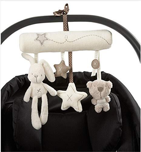 Juguete colgante en espiral para silla de paseo con diseño de dibujos animados musicales para colgar en cochecitos de bebé, silla de paseo de coche, cuna