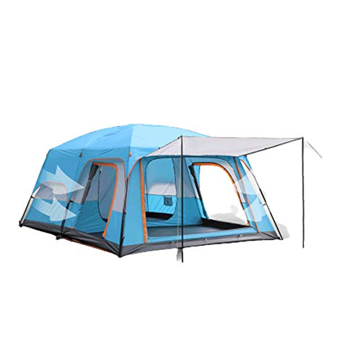 Camping Tent, Dome Tent, 5-12 Person Large Family Waterproof Lightweight Tent, Ventilated and Durable, Stable Steel Pole Construction, for Camping Hiking Travel Climbing (Sky blue,320 * 220 * 195cm)
