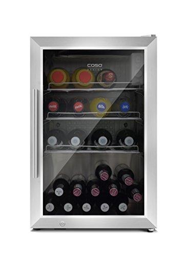 CASO Barbecue Cooler - Design Outdoor/ Barbecue Getränkekühlschrank mit ca. 63 Liter Lagervolumen, Mini-Kühlschrank, Edelstahlgehäuse, Temperatur von 0-10°C, Energieklasse A