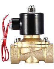 """CA 220V 1"""" Válvula Solenoide, DN25 Electroválvula N/C de Latón, 2 Vías Normalmente Cerrada, Anticorrosión, Tamaño Pequeño, Peso Ligero, Usar para Bobina Electromagnética Resistente al Calor Estándar"""