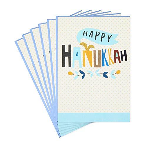 Hallmark Tree of Life Pack of Hanukkah Cards, Happy Hanukkah (6 Cards with Envelopes)