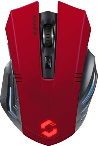 Speedlink FORTUS Gaming Mouse Wireless - Kabellose Gaming-Maus mit 5 Tasten und LED-Beleuchtung, schwarz
