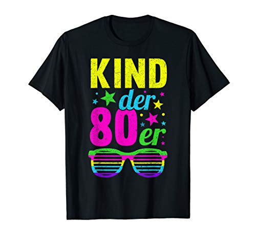 Kind der 80er Jahre 80s Motto Party Vintage Retro Outfit T-Shirt