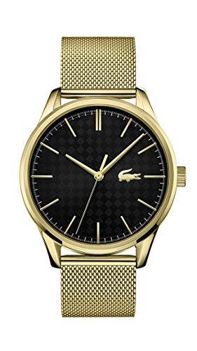Lacoste Relógio masculino de quartzo com pulseira de aço inoxidável, ouro, 20 (modelo: 2011104)