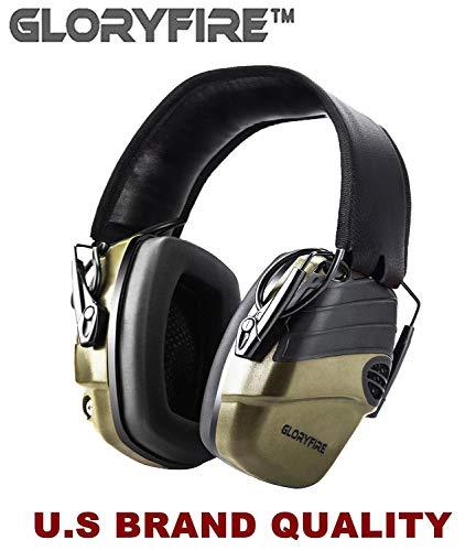 GLORYFIRE Electronic Shooting Earmuff Sound Amplification 6 Times Electric Earmuffs Perfect for...