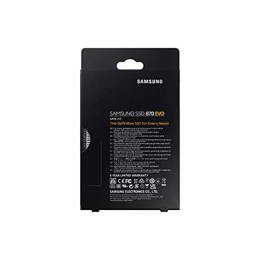 "Samsung SSD 870 EVO, 1 TB, Form Factor 2.5"", Intelligent Turbo Write, Magician 6 Software, Black (Internal SSD) 11"