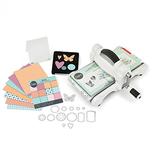 "Sizzix Big Shot Starter Kit 661500 Manual Die Cutting & Embossing Machine for Arts & Crafts, Scrapbooking & Cardmaking, 6"" Opening"